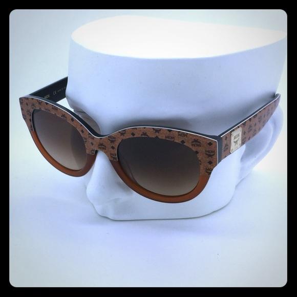 b7c5d84195 New MCM 608S 257 Cognac Visetos Sunglasses